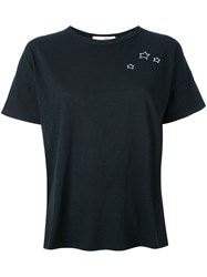 Rag And Bone Jean Embroidered Star T Shirt Women Cotton L Black