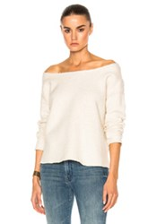 Mother The Cold Shoulder Raw Top In Neutrals