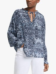 Lily And Lionel Florence Snake Print Top Navy