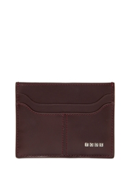 Tod's Metal Letters Leather Card Holder Bordeaux
