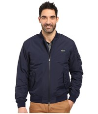 Lacoste Taffeta Bomber Lightly Padded Navy Blue Navy Blue Men's Clothing