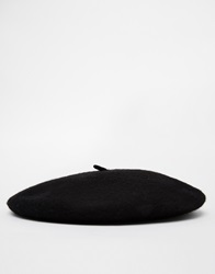 Asos Beret In Black