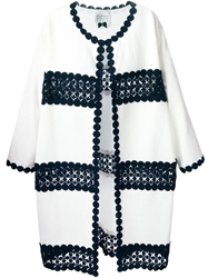 Edward Achour Paris Embroidered Coat White