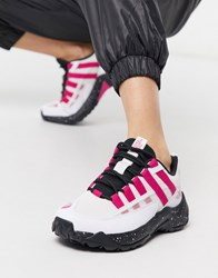 The North Face Trail Escape Crest Sneaker In White Pink