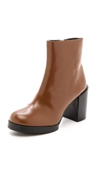 Cheap Monday Layer Ankle Booties Brown