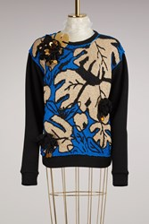 Michaela Buerger Embroidered Knitted Sweater Black Multi