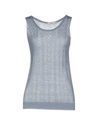 Darling Tank Tops Slate Blue
