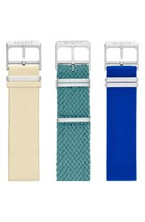 Misfit Women's Phase Three Pack 20Mm Watch Straps Sand Teal Cobalt