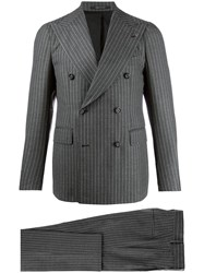 Tagliatore Pinstriped Double Breasted Suit 60