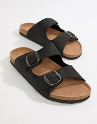 Dunlop Sandals In Black With Buckle