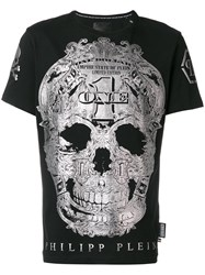Philipp Plein Silver Skill T Shirt Cotton S Black