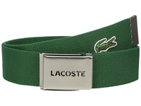 Lacoste 40Mm Gift Box Woven Strap Green Men's Belts