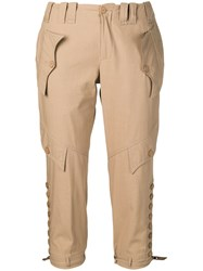 Jean Paul Gaultier Vintage Cropped Trousers Neutrals