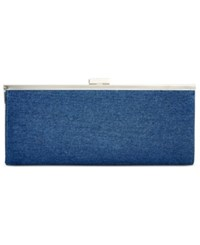 Styleandco. Style And Co. Carolyn Denim Clutch Only At Macy's Dark Blue
