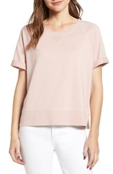 Cupcakes And Cashmere Kalle Washed Sweatshirt Top Tea Rose