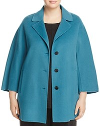 Marina Rinaldi Notizia Short Wool Coat Sky Blue
