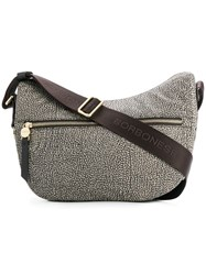 Borbonese Printed Crossbody Bag Nude And Neutrals