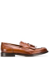 Doucal's Tassel Detail Loafers Brown
