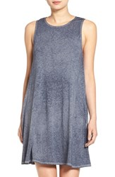 Women's Socialite High Neck Dress Washed Denim