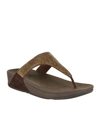 Fitflop Skinny Rokkit Toe Post Sandals Female Gold