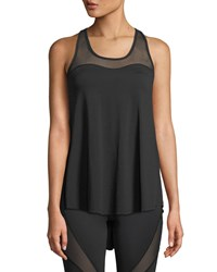 Michi Summit Split Back Racer Performance Tank Black