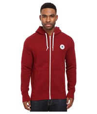 Converse Core Full Zip Hoodie Red Block Men's Sweatshirt