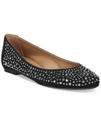 French Sole Fs Ny Quench Embellished Flats Women's Shoes Black