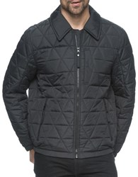 Marc New York Mechanics Diamond Quilted Jacket Black