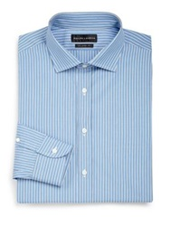 Ralph Lauren Black Label Classic Fit Striped Dress Shirt Purple Multi Blue Multi