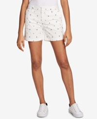 Tommy Hilfiger Poppy Print 5 Shorts Created For Macy's Ivory Multi