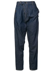 Vivienne Westwood Anglomania Alcoholic Asymmetric Jeans Blue