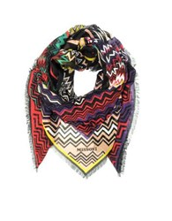 Missoni Digital Zig Zag Printed Modal And Linen Wrap Multicolor