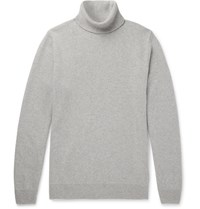 Hardy Amies Slim Fit Cashmere Rollneck Sweater Gray