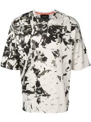 Mr And Mrs Italy Camouflage Print T Shirt White