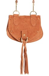 See By Chloe 'Small Collins' Leather And Suede Messenger Bag Brown Chocolate Brown