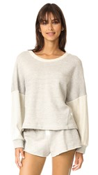 Only Hearts Club French Terry Drop Shoulder Sweatshirt Grey