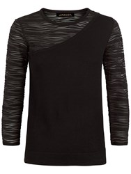 Jaeger Knitted Panelled Top Black
