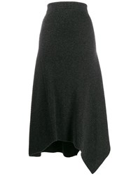 Pringle Of Scotland Travelling Ribbed Skirt Grey