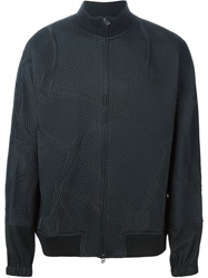 3.1 Phillip Lim Rope Motif Quilted Bomber Jacket Black