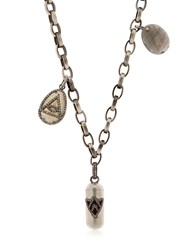 Jade Jagger Silver And Diamond Necklace With Charms