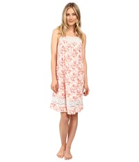 Carole Hochman Floral Chemise Watercolor Field Women's Pajama Pink