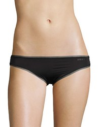 Dkny Mesh Trimmed Hipsters Black