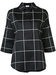 Akris Punto Checked Shirt Black