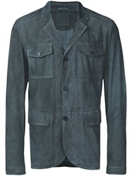 Desa 1972 Fitted Button Jacket Blue