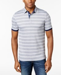 Club Room Men's Palomino Striped Polo Only At Macy's Navy Blue