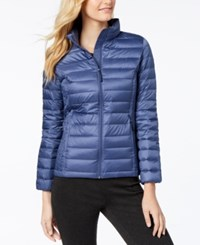 32 Degrees Packable Down Puffer Coat Indigo Fade