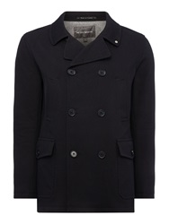 Peter Werth Eastern Alpha Button Pea Coat Navy