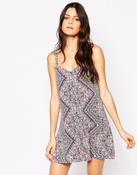 Influence Printed Strappy Playsuit Multi