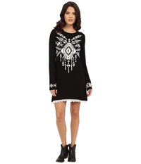 Rock And Roll Cowgirl Long Sleeve Dress 18 5781 Black Women's Dress
