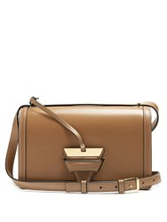 Loewe Barcelona Large Leather Shoulder Bag Beige